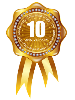 10th Anniversary Gold Rosette