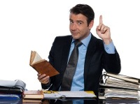 image of a man with books asking about bespoke first aid courses