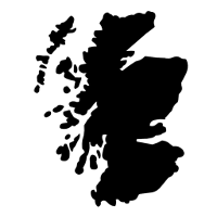 Image depicting a map of Scotland to illustrate that INDI Skills provides courses in Scotland
