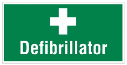 image of a defibrillator sign